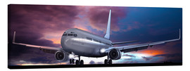 Canvas print  Take off for passenger aircraft in the evening - Kalle60