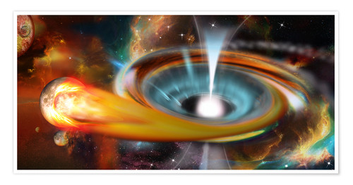 Premium poster Black hole with Pulsar, universe, galaxy