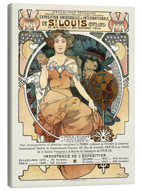 Canvas print  St. Louis World's Fair 1904 - Alfons Mucha