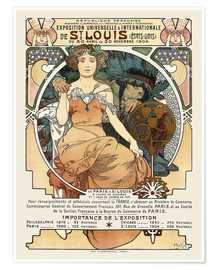 Premium poster  St. Louis World's Fair 1904 - Alfons Mucha