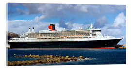 Acrylic print  Queen Mary 2 in the port of La Palma - MonarchC