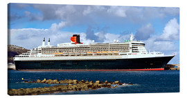 Canvas print  Queen Mary 2 in the port of La Palma - MonarchC