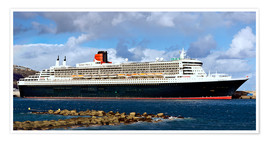Poster  Queen Mary 2 in the port of La Palma - MonarchC