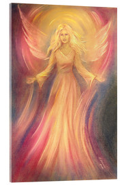 Acrylic glass  Spiritual painting of angel Light Love - Marita Zacharias
