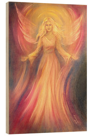 Wood print  Angel of light and love - Marita Zacharias