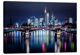 Canvas  Frankfurt Skyline night - Frankfurt am Main Sehenswert