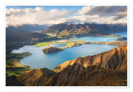Premium poster Wanaka Mountains