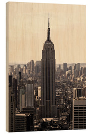 Wood print  Empire State Building Vintage - Buellom