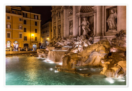 Poster Rome Trevi Fountain Italy