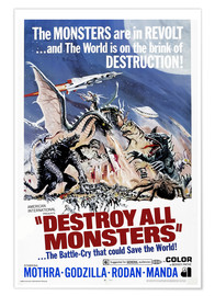 Premium poster Destroy All Monsters