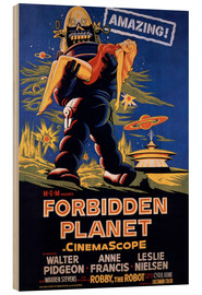Wood print  Forbidden Planet - Entertainment Collection