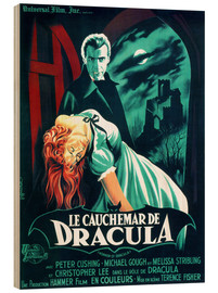 Wood print  Dracula - Entertainment Collection