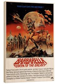 Wood print  Barbarella - Entertainment Collection