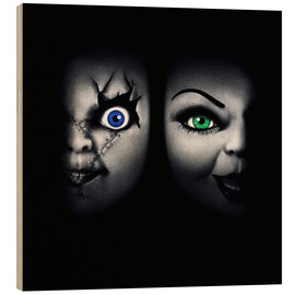 Wood print  Bride of Chucky - Entertainment Collection