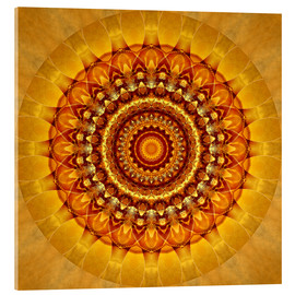 Acrylic glass  Mandala bright yellow - Christine Bässler