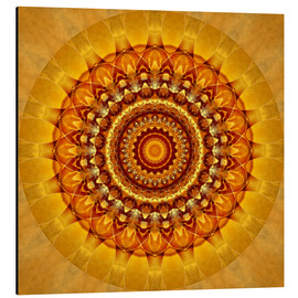 Alu-Dibond  Mandala bright yellow - Christine Bässler
