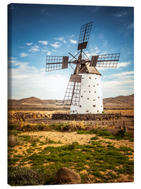 Canvas print  Windmill on Fuerteventura - Siegfried Heinrich