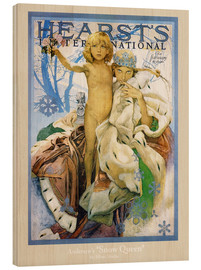 Wood print  Hearst's - The Snow Queen - Alfons Mucha