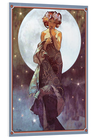 Foam board print  The Moon, adaptation - Alfons Mucha