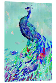Acrylic print  Peacock Collage - GreenNest