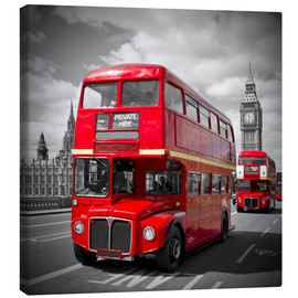 Canvas  LONDON Red Buses - Melanie Viola
