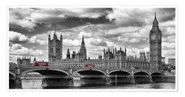Premium poster  LONDON Westminster Bridge Panoramic - Melanie Viola