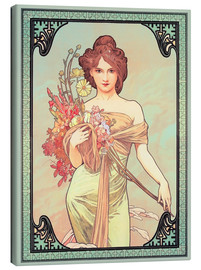 Canvas print  Spring brunette - Alfons Mucha
