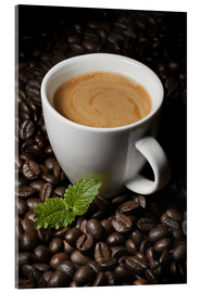 Acrylic print  Cappuccino coffee cup beans - pixelliebe