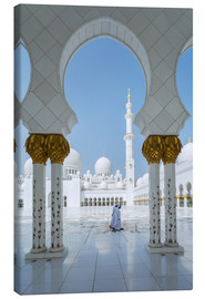 Canvas  Sheik Zayed Grand Mosque, Adu Dhabi, Emirates - Matteo Colombo