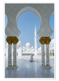 Poster  Sheik Zayed Grand Mosque, Adu Dhabi, Emirates - Matteo Colombo
