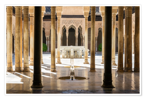 Premium poster Court of the Lions, Alhambra palace, Granada, Spain