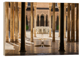 Wood print  Court of the Lions, Alhambra palace, Granada, Spain - Matteo Colombo