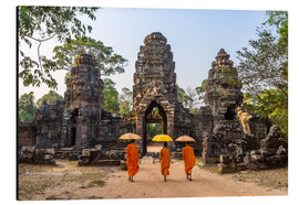 Aluminium print  Monks at Angkor Wat - Matteo Colombo