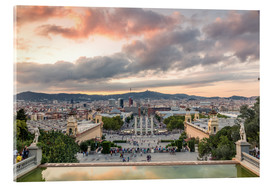 Acrylic print  Barcelona in the evening - Matteo Colombo