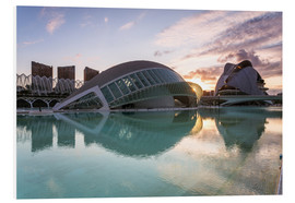 Foam board print  City of Arts and sciences, Valencia, Spain - Matteo Colombo