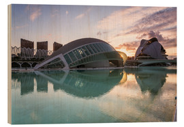 Wood print  City of Arts and sciences, Valencia, Spain - Matteo Colombo