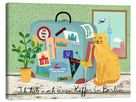 Canvas print  Suitcases in Berlin - Elisandra Sevenstar