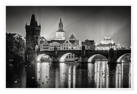 Premium poster Prague - Charles Bridge