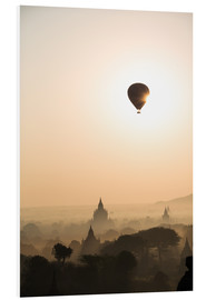 Foam board print  Sunrise with balloon, Bagan - Matteo Colombo