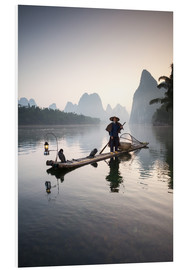 Foam board print  Old Chinese fisherman - Matteo Colombo