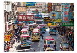 Foam board print  Crowded street in Mong Kok, Hong Kong - Matteo Colombo