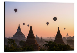 Alu-Dibond  Balloons and temples, Bagan - Matteo Colombo