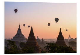 Foam board print  Balloons and temples, Bagan - Matteo Colombo