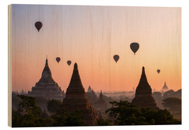Wood  Balloons and temples, Bagan - Matteo Colombo