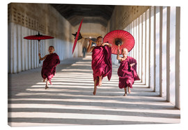 Canvas  Young monks running - Matteo Colombo