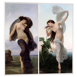 Acrylic print  Twilight & Aurora - William Adolphe Bouguereau