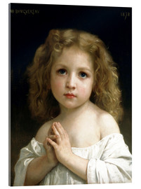 Acrylic glass  The Prayer - William Adolphe Bouguereau