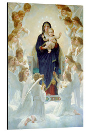 Aluminium print  The Virgin with angels - William Adolphe Bouguereau