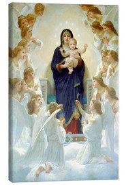 Canvas print  The Virgin with angels - William Adolphe Bouguereau