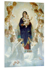 Foam board print  The Virgin with angels - William Adolphe Bouguereau